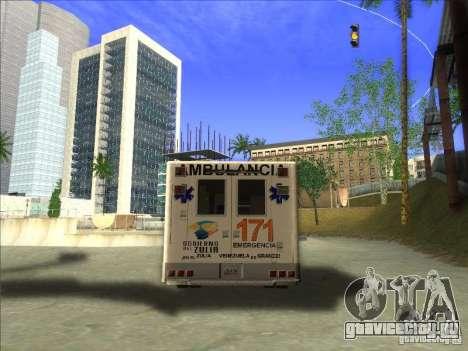 Ford E-350 Ambulance для GTA San Andreas вид сзади слева