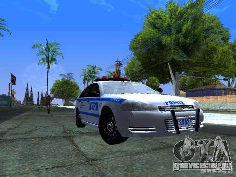 Chevrolet Impala NYPD для GTA San Andreas вид слева