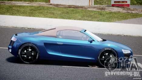 Audi R8 Spyder v2 2010 для GTA 4 вид слева