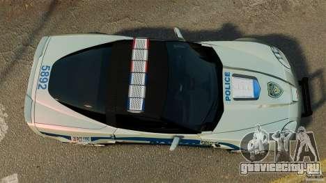 Chevrolet Corvette ZR1 Police для GTA 4 вид справа