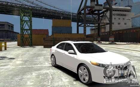 Acura TSX 2011 для GTA 4 вид сзади