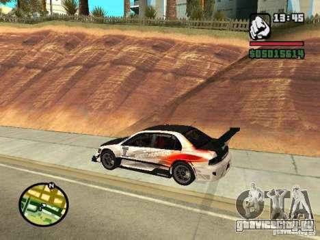 Mitsubishi Lancer Evo IX SpeedHunters Edition для GTA San Andreas вид слева