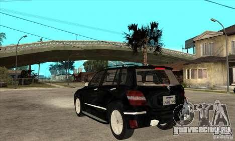 Mercedes Benz GLK300 для GTA San Andreas вид сзади слева