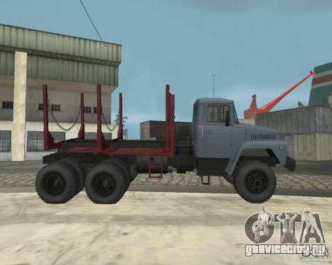 КрАЗ-255 Лесовоз для GTA San Andreas вид изнутри