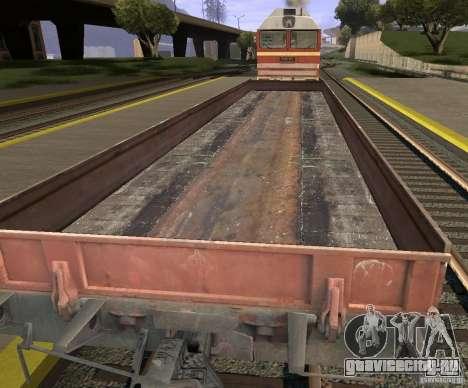 Вагон-платформа 44424539 для GTA San Andreas вид сзади слева