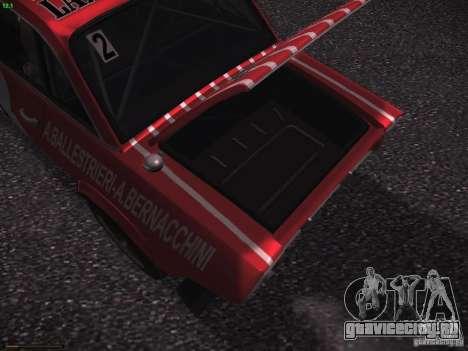Lancia Fulvia Rally Marlboro для GTA San Andreas вид снизу