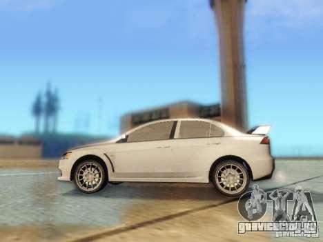 Mitsubishi Lancer Evolution X для GTA San Andreas вид слева