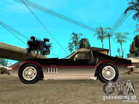 Chevrolet Corvette 1968 Stingray для GTA San Andreas вид слева