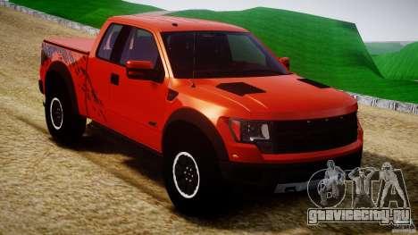 Ford F150 SVT Raptor 2011 для GTA 4 вид изнутри