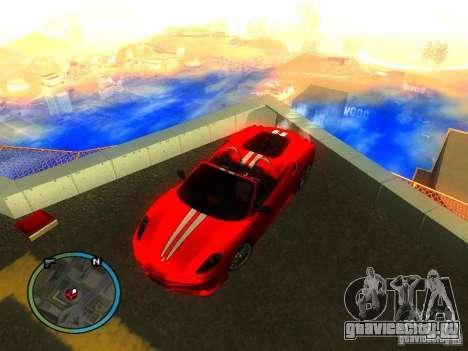 Ferrari F430 Scuderia M16 2008 для GTA San Andreas вид сбоку