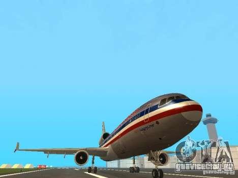 McDonell Douglas MD11 American Airlines для GTA San Andreas вид изнутри