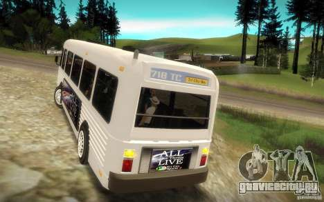 NFS Undercover Bus для GTA San Andreas вид сзади