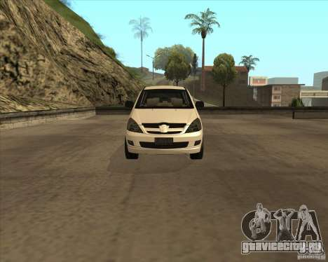 Toyota Innova для GTA San Andreas вид изнутри