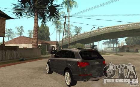 Audi Q7 TDI 2009 для GTA San Andreas вид сзади слева