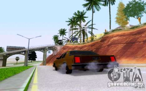 Ford Crown  Victoria LTD 1985 taxi для GTA San Andreas вид сбоку