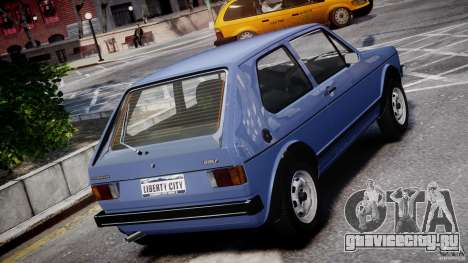 Volkswagen Golf Mk1 для GTA 4 салон