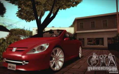 Peugeot 307CC BMS Edition для ноутбуков для GTA San Andreas вид слева