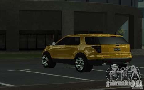 Ford Explorer Limited 2013 для GTA San Andreas вид сзади слева