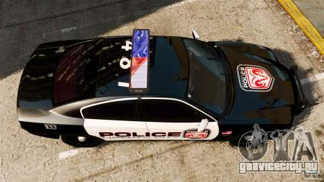 Dodge Charger RT Max Police 2011 [ELS] для GTA 4 вид справа