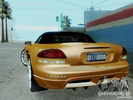 Dodge Viper SRT-10 Roadster для GTA San Andreas вид изнутри