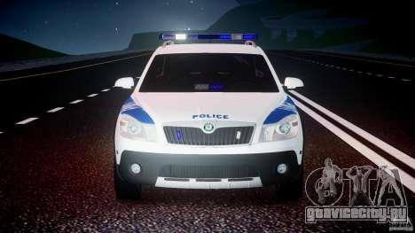 Skoda Octavia Scout NYPD [ELS] для GTA 4 вид снизу