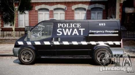 Ford Transit SWAT [ELS] для GTA 4 вид слева