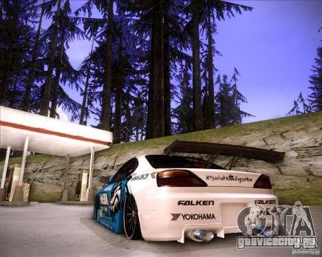 Nissan Silvia S15 Blue Tiger для GTA San Andreas вид слева