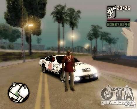 Dodge Nascar Beers Light 40 для GTA San Andreas вид справа