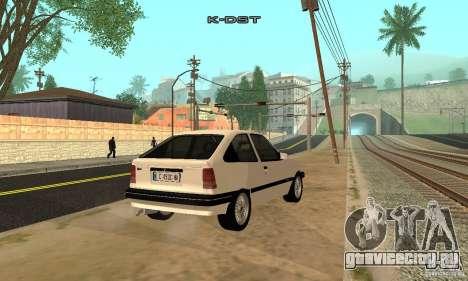 Opel Kadett E для GTA San Andreas вид сзади слева