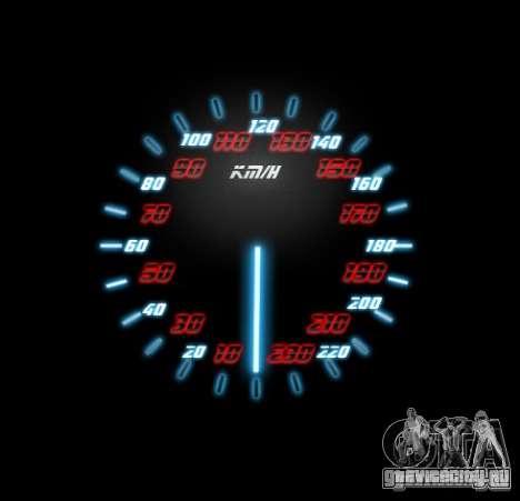 Neon Style Speedometr для GTA San Andreas третий скриншот