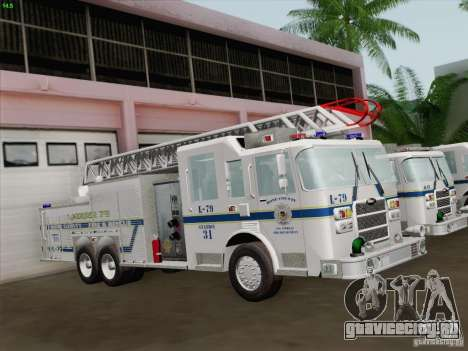 Pierce Puc Aerials. Bone County Fire & Ladder 79 для GTA San Andreas