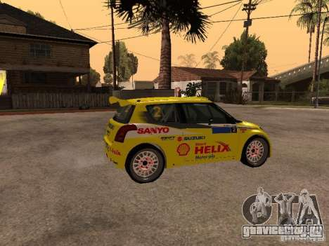 Suzuki Swift Rally для GTA San Andreas вид слева