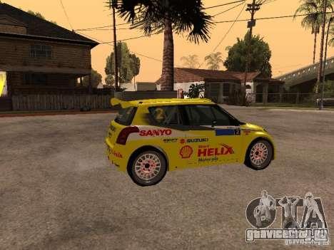 Suzuki Swift Rally для GTA San Andreas вид слева