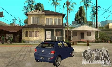 Volkswagen Gol Trend 1.6 для GTA San Andreas вид справа