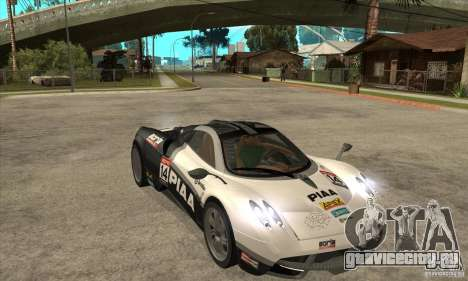 Pagani Huayra ver. 1.1 для GTA San Andreas вид изнутри