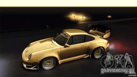 Porsche 993 RWB для GTA San Andreas вид сзади
