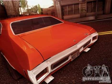 Chevy Chevelle SS 1970 для GTA San Andreas вид сзади