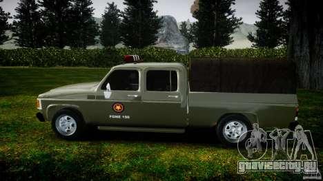 Chevrolet D20 Brigada Militar RS для GTA 4 вид изнутри