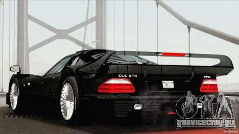 Mercedes-Benz CLK GTR Race Road Version Stock для GTA San Andreas вид слева