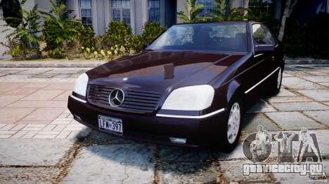 Mercedes-Benz 600SEC C140 1992 v1.0 для GTA 4