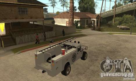 Hummer H1 Utility Truck для GTA San Andreas вид справа