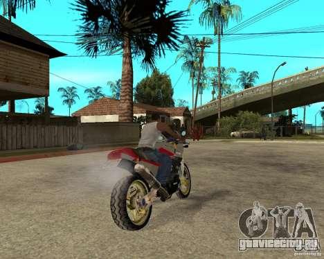Kawasaki Ninja Tuning для GTA San Andreas вид сзади слева