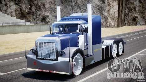 Peterbilt Truck Custom для GTA 4 вид сзади