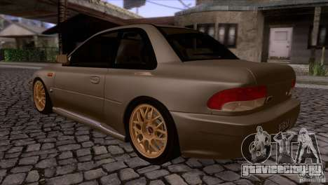 Subaru Impreza 22 для GTA San Andreas вид сзади слева