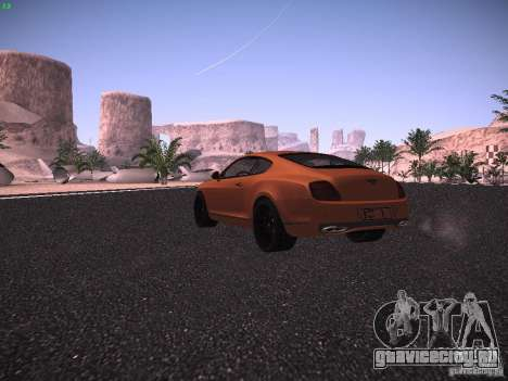 Bentley Continetal SS Dubai Gold Edition для GTA San Andreas вид справа