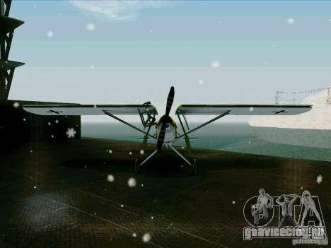 Fi-156 для GTA San Andreas вид сзади