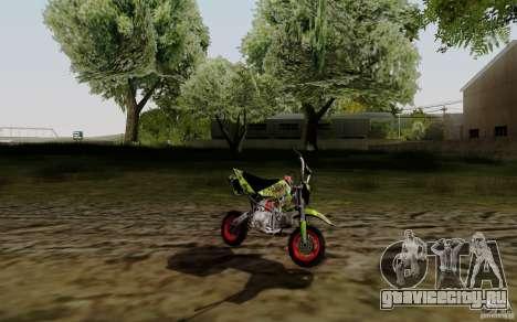 Kawasaki 50cc Pocket Factory Bike для GTA San Andreas вид слева