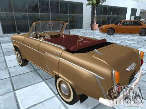 Москвич 403 Cabrio для GTA San Andreas вид слева