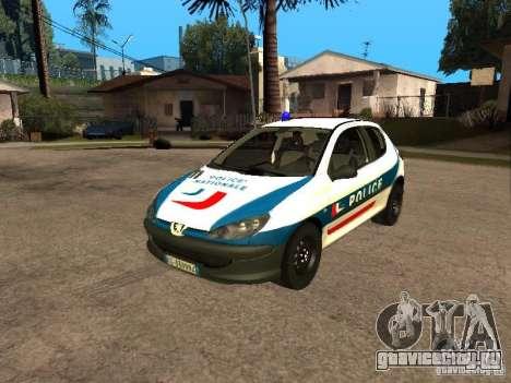 Peugeot 206 Police для GTA San Andreas