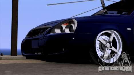 ВАЗ 2170 Lada Priora для GTA San Andreas вид сзади